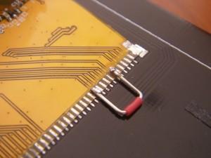 妥協の電子工作に書かれていた8bit化のための処置