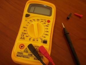 デジタルマルチメータ MAS-830L マニュアルレンジ