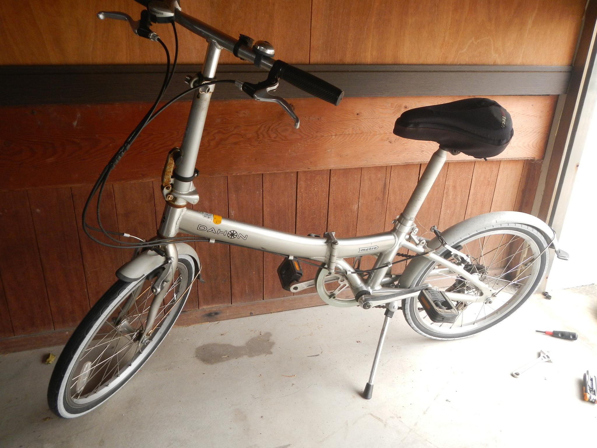自転車への取り付けも滞りなく完了・・・