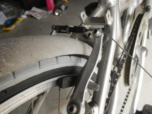 後輪のブレーキがうまく効かない