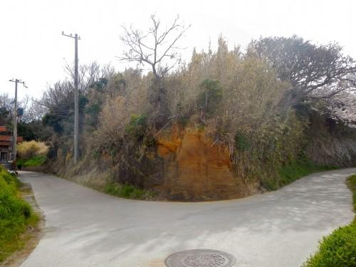 登里さん近くの道。 この辺りは土の感じがいかにも粘土質で、独特の趣があります。