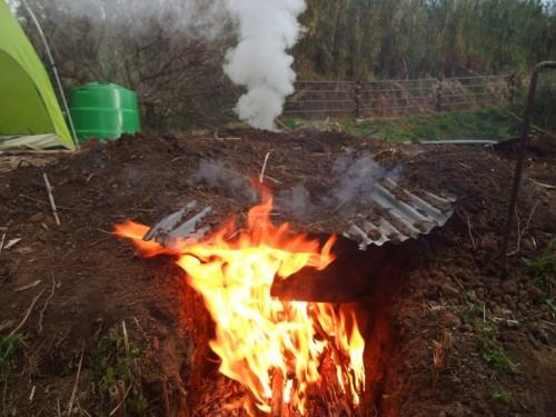 生焼けは二度とごめんなので、ガンガンに燃やせー!